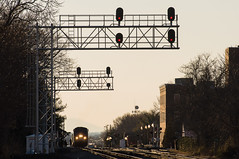 12-670 (George Hamlin) Tags: railroad bridge electric train buildings photography virginia photo george general cardinal diesel tracks amtrak manassas locomotive passenger 50 genesis atk decor signal 151 hamlin p42