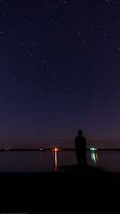 Big Dipper Over Grand River (Jessie Chaisson) Tags: shadow portrait sky night self river stars major big time grand pei ursa dipper selfie