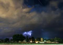 Shooting Star Storm (KM Preston Photography) Tags: longexposure storm weather night landscape nightscape cloudy thunderstorm nightsky lightning extremeweather shootingstar lightningstorm coloradospringsco fountainco kmprestonphotography finals20160708112432c