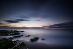 Greystones Sunset (Minibert93) Tags: longexposure ireland sea sky sun seascape seaweed clouds sunrise landscape rocks greystones wicklow littlestopper