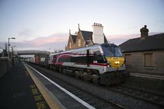 209 on Northwall-Ballina trial train passing through Sallins 27-June-16 (metrovick) Tags: railroad railway irishrail nir freighttrain emd iarnrodeireann sallins containertrain jt42hcw ie201class nir209 emdexportloco