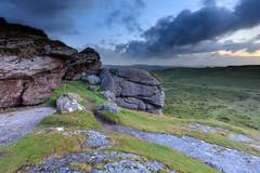 Saddle Tor (davidwoganphoto) Tags: wild summer england clouds sunrise canon landscape photography dawn rocks unitedkingdom hill july devon tor moor dartmoor saddle teignbridgedistrict 5dsr davidwogan