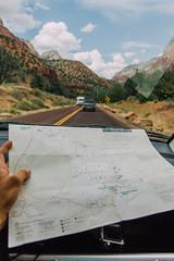 (Krume takes photos) Tags: road park trip trees friends nature car fun utah desert map hiking sightseeing roadtrip adventure zion