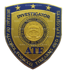 ATF Investigator Patch (GMAN) (Patch Collector) Tags: special alcohol badge agent patch federal tobacco explosives gman firearms srt atf investigator