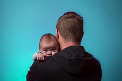 Father and son (fsm vpggru) Tags: blue boy baby me studio headshot marlon colorama strobist