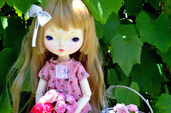 Leaves (Milk and Bunny) Tags: roses ball outside clothes bjd ariana jointed dolldress leekeworld