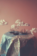 The Three Caravels (Elis's) Tags: old trip travel cloud nature fairytale clouds composition creativity fantastic soft poetry nuvole ship foto treasure artistic map antique pirates magic fineart dream surreal battle dirty adventure story fairy nave fantasy pirate dreams innocence expressive dreamy editing unreal portfolio dust conceptual stories cartina departure dreamer ritratto tale geographic fable fantastico magico discover navigate battaglia nuance sogno concettuale caravelle sporco incantation fantastique immagination polvere montaggio dipinto pirati favola fiaba avventura navigare seguire geografica cartinageografica magicdreamy threecaravels
