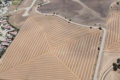 Hay and suburbia, Paso Robles, San Luis Obispo County, California (cocoi_m) Tags: california suburbia hay pasorobles sanluisobispocounty aerialphotograph