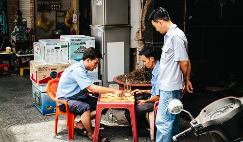 Playing XiangQi on the street