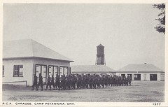 #1577 - c. 1941 Folder Picture - R.C.A. Garages at Camp Petawawa, Ontario (WhiteRockPier) Tags: camp rca petawawa garages wwl