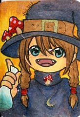 atc 30 (dragonalloy) Tags: mushroom atc magic aceo mage potion swapbot