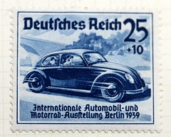 Historical postage stamps - International Car Show, 1939 (Peter Denton) Tags: blue berlin car germany deutschland typography war europa europe post mail letters hitler krieg stamp lettering timbre postage 1939 typographie volkswagenbeetle germanhistory briefmarke francobollo europeanhistory estampilla deutschesreich canonefs60mmf28macrousm internationalcarshow canoneos60d affrancatura grossdeutschesreich internationaleautomobilundmotorradausstellung