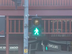 New pedestrian countdown timer signal (The Scooter Guy) Tags: new light red green yellow video crossing traffic may pedestrian led adelaide crosswalk norwood 9th countdown timer thursday signal southaustralia aldridge xing theparade 2013