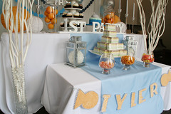 Tyler's First Birthday (nspired events) Tags: birthday blue party orange fish toronto decoration whale firstbirthday decor dol   nspiredevents
