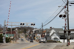 Evans City, PA (joseph a) Tags: railroad downtown pennsylvania railroadcrossing butlercounty evanscity