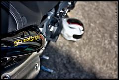 Triumph Street Triple (Guyom Marais Photography) Tags: street canon triumph moto motorcycle 1855mm hdr 450d streettriple oloneo