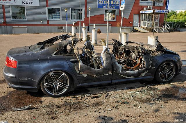 göteborg sweden gothenburg sverige burnout burned torched gbg utbränd audia842quattro förstörd uppeldad uppbränd