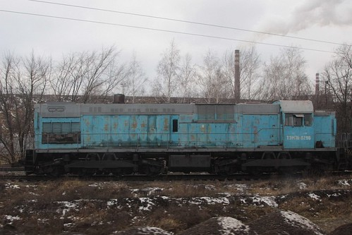 Note the Do-Do wheel arrangement - Russian Railways class ТЭМ7А diesel locomotive