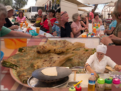 Pancakes for Lunch (robteather) Tags: turkey market group antalya pancake kas