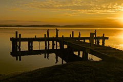 Sunset over the Lake (Paul Samaras Photography) Tags: sunset australia nsw lakemacquarie squidsink