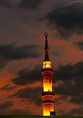 Al Mαsjid Al Nαbαwi ❤ (gLySuNfLoWeR) Tags: sunset islam prophet madinah medine msulim peygamber masjidnabawi