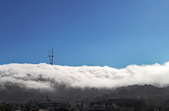 Fog Over Sutro Heights (skipmoore) Tags: sanfrancisco fog clouds driveby explore sutrotower stratus sutroheights