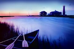 Lydia Ann Lighthouse_B_tpz (Louis Curtis) Tags: camera sunset sky lighthouse film water mediumformat bay texas unitedstates kodak scan canoe hasselblad inlet marsh saltwater oars intercoastalwaterway aransaspass lydiaannlighthouse hasselbald50mmf4cft