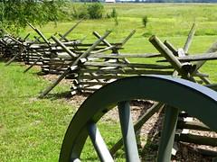 Gettysburg (KaDeWeGirl) Tags: park wheel fence pennsylvania military battle gettysburg civilwar national cannon