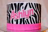 Barbie / Zebra Cake (Sweet Pudgy Panda) Tags: birthday pink white black silhouette cake barbie zebra fondant zebrastripes vintagebarbie sweetpudgypanda
