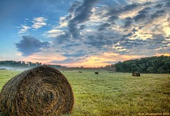 Sunrise over a meadow, Hagerstown Maryland (PhotosToArtByMike) Tags: md farm straw maryland farmland hay haybale westernmaryland washingtoncounty hagerstownmaryland