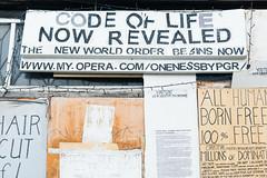 14 September, 16.19 (Ti.mo) Tags: street uk england london writing graffiti iso100 weird newworldorder protest odd hackney flyposting dalston f50 dalstonjunction 0ev  secatf50 ef40mmf28stm