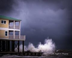 The Storm (augphoto) Tags: ocean nature water us seaside waves unitedstates alabama shoreline beachhouse dauphinisland augphotoimagery