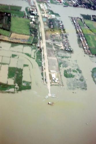 Phà Cần Thơ Ferry Aerial - Phong Dinh 1967 - Photo by Rod O' Dell