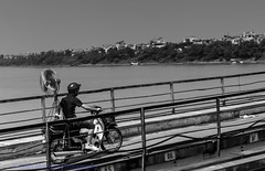 Fan propelled (Keith Mulcahy) Tags: city travel bridge vacation people blackandwhite buildings holidays chaos vietnam busy hanoi motorbikes crowds oldquarter canon2470mmf28 canon5dmk3 september2013 keithmulcahy blackcygnusphotography ppa7a0 ppd56c