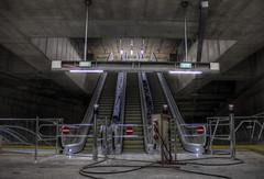 Metro 4 - Kalvin Square (flawlessmonkey) Tags: urban square hungary metro budapest escalators exploration urbex ter kalvin metro4