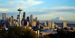 Seattle Skyline and Mount Rainier From Kerry Park:  10.04.13