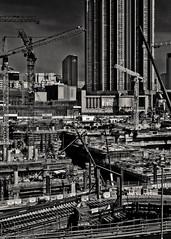 Megatropolis (Ding Yuin Shan) Tags: blackandwhite hongkong site construction jordan summicron trainstation 352  7elements leicam9