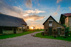Sunset over the farmhouse (Justin Hickling) Tags: sunset france green farmhouse rural farm farming ducks turkeys lowernormandy canon6d courmnil