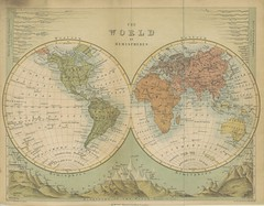Image taken from page 919 of '[A Cyclopdia of Geography, descriptive and physical, forming a new general gazetteer of the world and dictionary of pronunciation, etc.]' (The British Library) Tags: bldigital date1862 pubplacelondon publicdomain sysnum000510959 brycejamesfgs large vol0 page919 mechanicalcurator imagesfrombook000510959 imagesfromvolume0005109590 map world conical hemispheres sherlocknet:tag=ocean sherlocknet:tag=london sherlocknet:tag=form sherlocknet:tag=differ sherlocknet:tag=america sherlocknet:tag=case sherlocknet:tag=atlantes sherlocknet:tag=africa sherlocknet:tag=asia sherlocknet:tag=parallel sherlocknet:tag=bank sherlocknet:tag=heat sherlocknet:tag=ordinary sherlocknet:tag=name sherlocknet:tag=arctic sherlocknet:tag=island sherlocknet:category=diagrams