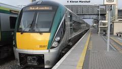 22057 at Portlaoise, 29/11/13 (hurricanemk1c) Tags: irish train rail railway trains railways irishrail rok rotem portlaoise icr iarnród 2013 22000 22057 éireann iarnródéireann 3pce 1415heustonportlaoise