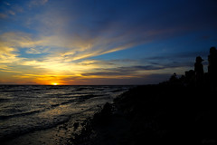 My Sunset (Lohb) Tags: sunset hot beach seaside warm bluesky kualaselangor sekinchan 24105mm mysunset pantairedang