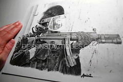 DessinsTactiques - Dessin Original Commando-Marine GCMC / HK MP5 SD6 (Part II) (DessinsTactiques.com) Tags: france illustration gun drawing dessin grenades laser crayon cos swat weapons militaire nra commando feuille commandos 9mm specialforces chasuble ctm dessiner cagoule menottes counterterrorism marinenationale 9x19 gcmc frenchnavy chargeurs crayonn machinepistol giletpareballes specialunit commandomarine forcesspciales casquelourd jaubert subsonique pistoletmitrailleur lampetactique ctlo davidandro hkmp5sd6 hkarms giletdassaut dessinmilitaire frenchnavyseals gantstactiques visirebalistique dessinstactiquescom dessinstactiques dessinoriginal dessinforcesspciales wwwdessinstactiquescom dessinerunmilitaire coupleurdechargeurshk