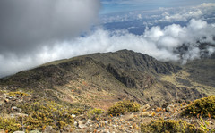 Crater (illusionsofgrandeur) Tags: trip travel vacation usa clouds island volcano hawaii nationalpark maui haleakala hdr haleakalanationalpark