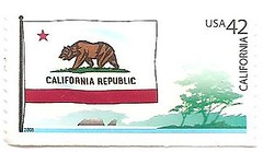 USA stamp - flags of the states - California (sftrajan) Tags: usa unitedstates stamps stamp bandera series timbre flagge postagestamp drapeau philately sello bearflag californiarepublic californiaflag stateflags briefmarke  francobollo californiastateflag