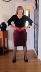 Pencil Skirt (Trixy Deans) Tags: hot cute sexy tv highheels cd crossdressing tgirl tranny transvestite heels slip transgendered crossdresser skirts transsexual shemale slips shortskirt trixy cocktaildress shemales fullslip xdresser fullslips crossdreeser trixydeans skirt sexytransvestite