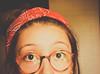 4 olhos! :( (carolbalreiraa) Tags: red girl glasses bandana foureyes etica redglasses