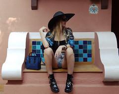 The Vagabond Lovebyn (Love by N) Tags: travel blue india black beach fashion animal scarf cutout bag print outfit cool boots fb top goa silk tourist jeans denim shorts panther celine balenciaga vagabond fashionblog wiwt ootd