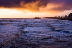 'It's Coming' (Chaitanya Deshpande | Photography) Tags: sea england seascape storm brighton stormy westpier rough stormyweather brightonpier roughseas brightonseafront choppysea brightonoldpier britishlandscapes lptide stormsintheuk