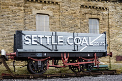 Settle Coal Wagon (CurlewRiver) Tags: uk england watertower railway restoration northyorkshire settle coalwagon thedales restorationman
