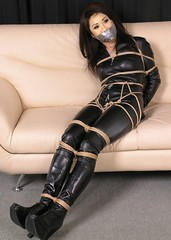 brenda song bound and gagged (Dexter_leather81) Tags: leather fake gagged tapegag brendasong
